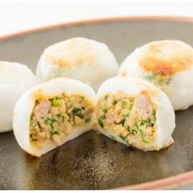 にら饅頭(4個入) 冷凍 高知 四万十ポーク使用 四万十町産ニラ もちもちな皮