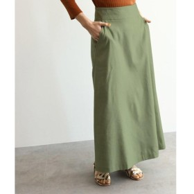 OZOC / オゾック [洗える]リネン調Aラインマキシスカート