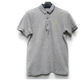 【中古】 フレッドペリー FRED PERRY 半袖ポロシャツ サイズS メンズ ライトグレー ネイビー イエロー