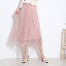 9bfc784f6661a スカート ロングスカート 春夏新作 レディース 可愛い チュールスカート プリーツ ウエストゴム 柔らかい ボトムス 大きい