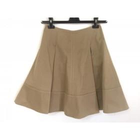 【中古】 プラダ PRADA スカート サイズ38S レディース ベージュ プリーツ