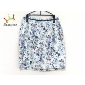 アプワイザーリッシェ スカート サイズ1 S レディース 美品 白×ライトブルー×マルチ 花柄     スペシャル特価 20190803