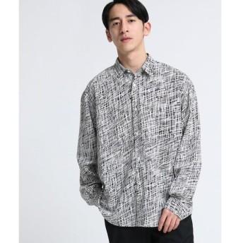tk.TAKEO KIKUCHI / ティーケー タケオキクチ Doodleプリントスパローンシャツ