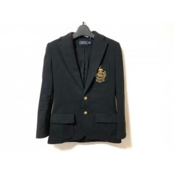 【中古】 ポロラルフローレン POLObyRalphLauren ジャケット サイズ0 XS レディース 黒 ゴールド 刺繍