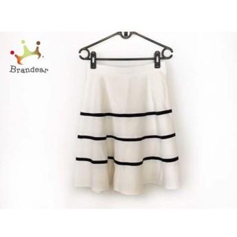 ジャスグリッティー JUSGLITTY スカート サイズ1 S レディース 美品 白×黒 ボーダー スペシャル特価 20190815