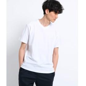 TAKEO KIKUCHI / タケオキクチ 梨地 VネックTシャツ