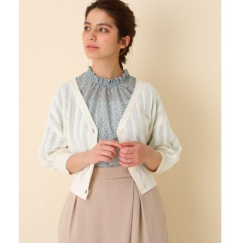 Couture Brooch / クチュールブローチ 【手洗い可】透かし編みショート丈ボレロ