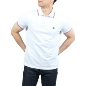 【送料無料!】モンクレール 83456 001 ホワイト メンズ 半袖ポロシャツ 【MONCLER WH】