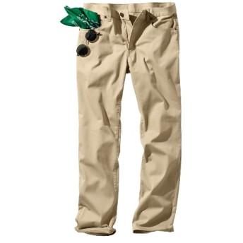 ウオッシュ加工ストレッチ5ポケットチノパンツ(股下80cm) チノパンツ・カジュアルパンツ