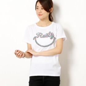 [マルイ]【セール】RUSTY レディーススマイリーブランドロゴ吸汗速乾機能付きUVTシャツ/ラスティ(RUSTY)