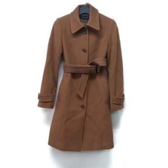 【中古】 ミッシェルクラン MICHELKLEIN コート サイズ38 M レディース ライトブラウン 冬物/襟取り外し可