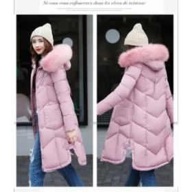 軽いダウンコート 愛用 大きいサイズ フェイクファー  新品秋冬ロングコート レディースアウター OL ロングジャケット 厚手