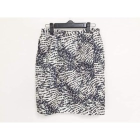 【中古】 インコテックス INCOTEX スカート サイズ42 L レディース 美品 アイボリー ダークネイビー