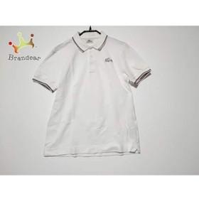 ラコステ Lacoste 半袖ポロシャツ サイズ2 M レディース 美品 白×黒×レッド   スペシャル特価 20190630