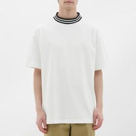 (GU)ビッグT(半袖)(リブライン) WHITE M