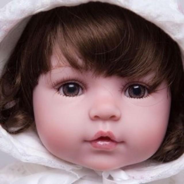 リボーンドール 赤ちゃん人形 ベビー人形 ベビードール 海外ドール リアル ハンドメイド レースのフード お人形さん風 女の子