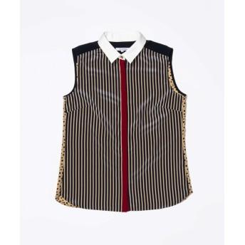 【44%OFF】 ラブレス WOMEN カラーノースリーブブロッキングシャツ レディース ネイビー 34 【LOVELESS】 【タイムセール開催中】
