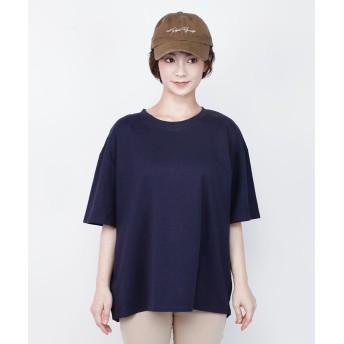Tシャツ - aimoha コットンTシャツ Tシャツ レディース コットン 綿 テールカット ボックスTシャツ ゆったり 半袖 無地 シンプル カットソー 春夏