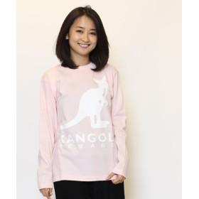 カンゴールリワード KANGOL REWARD ロゴプリント長袖Tシャツ ユニセックス ピンク M 【KANGOL REWARD】