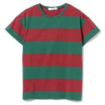 <WOMEN>homspun / ボーダー ショートスリーブ Tシャツ レディース Tシャツ RED×GREEN ONE SIZE