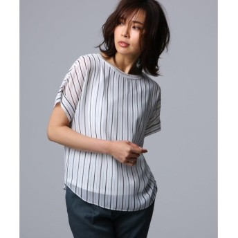 UNTITLED / アンタイトル 【洗える】ルーチェ ストライププリント シャツ