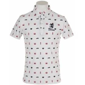 アドミラル(Admiral)ゴルフウェア メンズ 総柄アイコン 半袖ボタンダウンシャツ ADMA937-WHT (Men's)