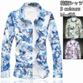 3 プリント トップス 開襟シャツ 花柄シャツ オープンカラーシャツ 大きいサイズあり 長袖シャツ ビジネス通用 カジュアルシャ