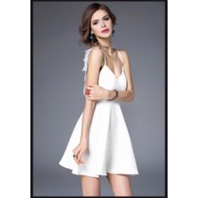 レースセクシーワンピース  大きいサイズ ミディアムドレス 二次會 ドレス 結婚式ワンピース パーティドレス お呼ばれドレス
