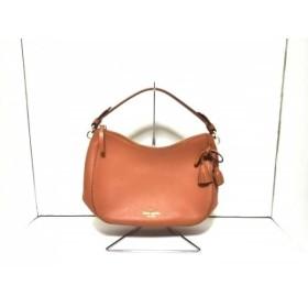 【中古】 ケイトスペード Kate spade ハンドバッグ 美品 PXRU7597 ブラウン タッセル レザー