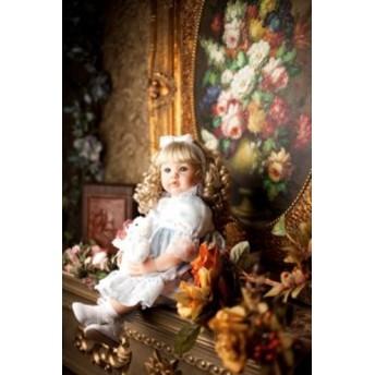 リボーンドール プリンセスドール 海外ドール 赤ちゃん人形 ベビー人形 ベビードール リアル 綿シリコン 新品 金髪 巻き毛 女の子 幼児