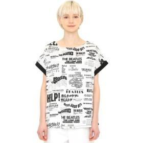 [マルイ]【セール】【レディース】コラボレーションバックボタンTシャツ/メニータイトルパターン(ザビートルズ)/グラニフ(graniph)