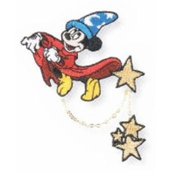 【日本製】【ディズニーキャラクター】【ディズニーファンタジア】刺繍ブローチ【シャインマジック】【ミッキーマウス】【ミッキー】【・
