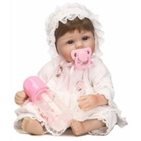 55533109b4b4e リボーンドール リアル赤ちゃん人形 ベビー人形 衣装とおしゃぶり・哺乳瓶付き クラシカルな