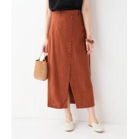 SLOBE IENA RITA ROW フロントボタンスカート オレンジ フリー