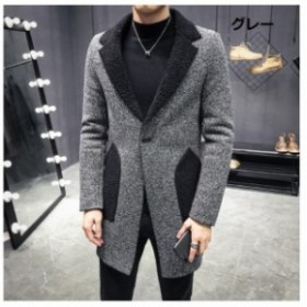 格好いいメンズビジネスコート ストライプ OL メンズロングコート 厚手 テーラードジャケット メンズアウター チェスターコート