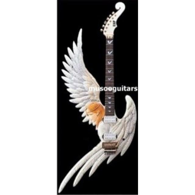 カスタムエレキギター 天使デザイン 手彫り マホガニー メイプル 熟練者向け 40インチ カエデ 新品