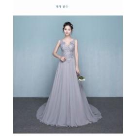 ドレス演出會ドレス お呼ばれ ロングドレス 二次會 フォーマル 結婚式 大人気パーティードレス ウェディングドレス 新作 発表會