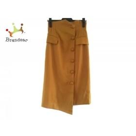 アウラ AULA スカート サイズ0 XS レディース 美品 イエロー    値下げ 20190907