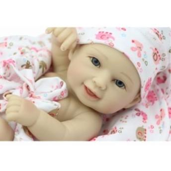 お目目ぱっちり新生児 リボーンドール 赤ちゃん ベビー人形 ベビードール リアル ハンドメイド フルシリコンビニール 11インチ