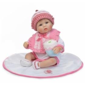 aa895ca2b0203 リボーンドール リアル赤ちゃん人形 かわいいベビー人形 衣装とおしゃぶり・哺乳瓶付き かわいい