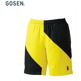 GOSEN/ゴーセン PP1700 テニス・バドミントン ウェア ハーフパンツ/ユニセックス イエロー PP1700