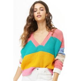 ニット・セーター - FOREVER 21 【WOMEN】 マルチカラーブロックVネックセーター