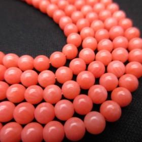ピンクコーラル(珊瑚)/size(4.5mm玉)/1set(20玉)/No314/家庭円満や子宝運を高める/