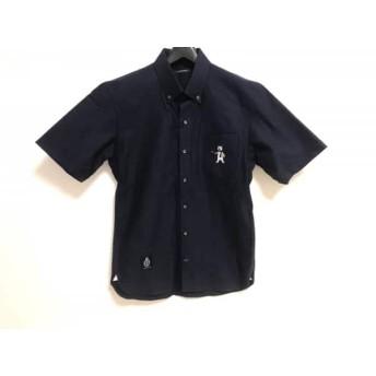 【中古】 ギルドプライム GUILD PRIME 半袖シャツ サイズ1 S メンズ 新品同様 ネイビー ベア