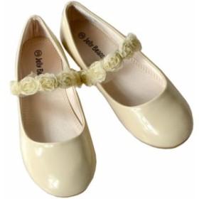 0b2419d061958 フォーマル靴 フラット シューズ 女の子 ヌード ベージュ 18.5-23.5cm