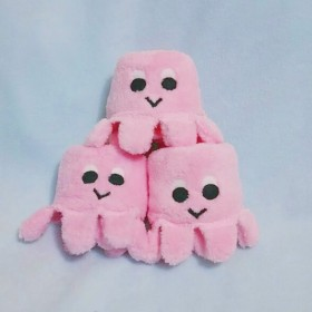 タコモダチ ハンカチ ピンク