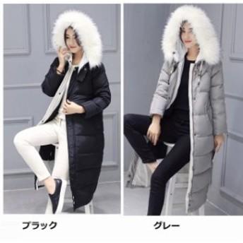厚手 軽いダウンコート 通勤 ロングジャケット 愛用 大きいサイズ レディースアウター OL 大人気秋冬ロングコート フェイク