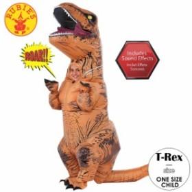 ハロウィン 衣装 子供 ルービーズ ジュラシック ワールド T-REX サウンド付き コスチューム 男の子 女の子 120-135cm Rubie's 640183