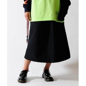 カンゴールリワード KANGOL REWARD カラーライトツイルスカート レディース ブラック F 【KANGOL REWARD】