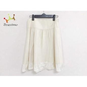バーバリーブルーレーベル スカート サイズ38 M レディース 美品 アイボリー チェック柄 スペシャル特価 20190802